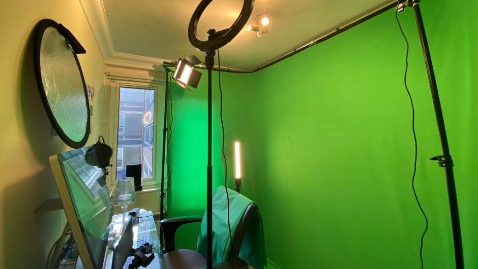 Benjamin Voyer's studio in London for ESCP webinars