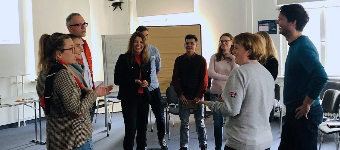 Entrepreneurship discussions at U-School at ESCP Business School Berlin Campus